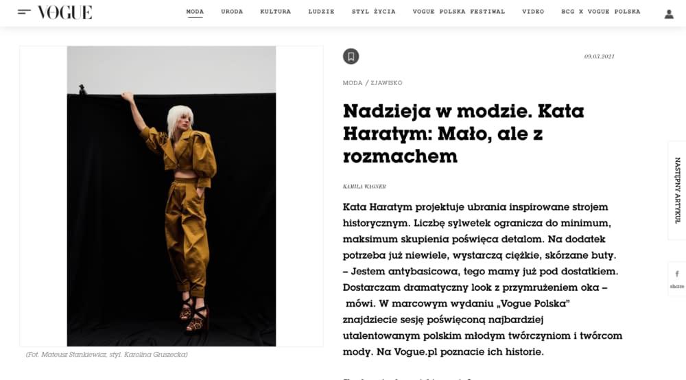 Kata Haratym Vogue Polska