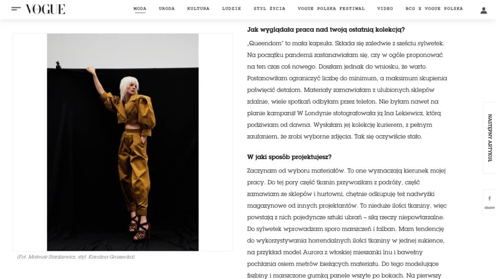 Vogue Kata Haratym brand 3