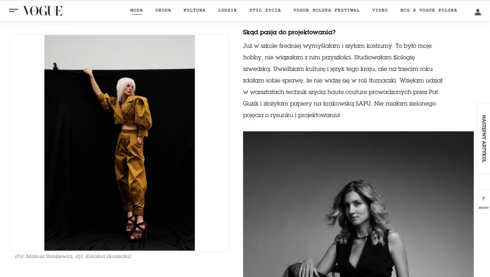 Vogue Kata Haratym brand 1